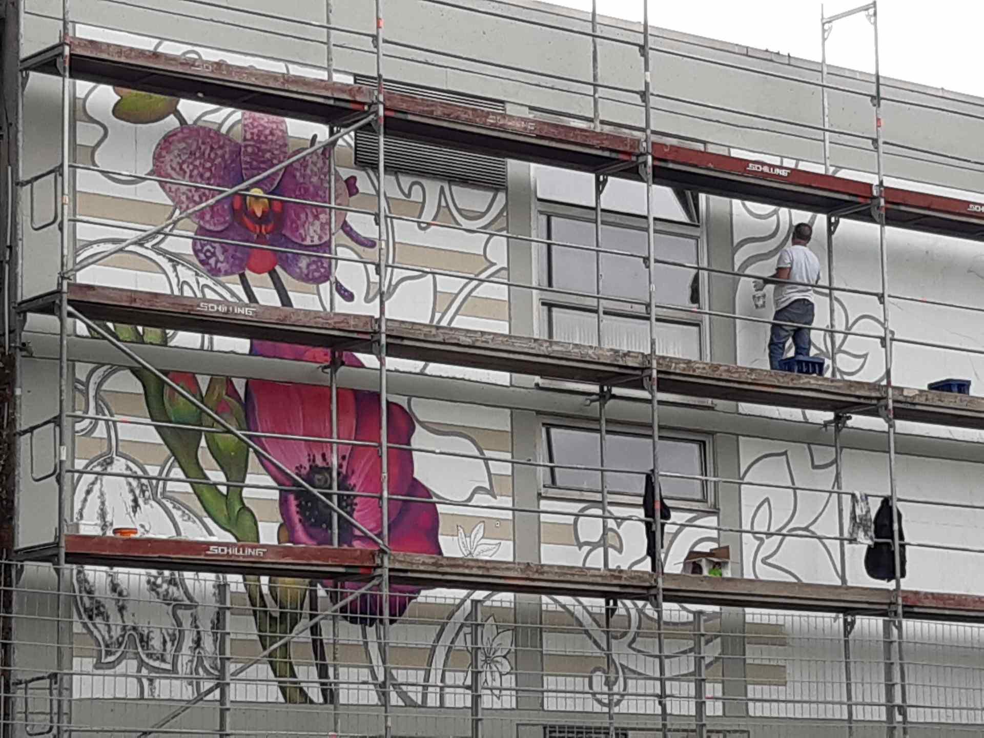 Entstehung Mural Schillerschule